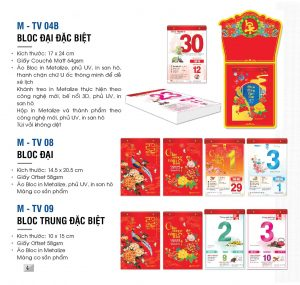 Lịch bloc lẻ TV